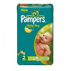 Pack 72 Couches de la marque Pampers New Baby Dry taille 2 sur Tooly