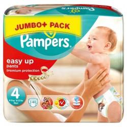 Pack 140 Couches Pampers Easy Up de taille 4 sur Tooly