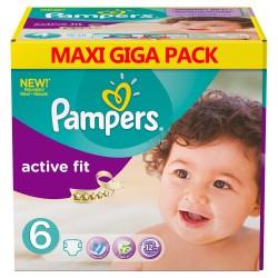 Maxi Pack 192 Couches de la marque Pampers Active Fit de taille 6 sur Tooly