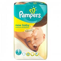 Pack d'une quantité de 27 Couches Pampers de la gamme New Baby Dry de taille 1 sur Tooly