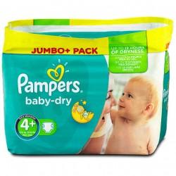 Pack de 56 Couches de la marque Pampers Baby Dry de taille 4+ sur Tooly