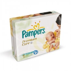 Mega Pack 176 Couches Pampers Premium Care taille 1 sur Tooly