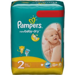 Pack 80 Couches Pampers de la gamme New Baby Dry de taille 2 sur Tooly