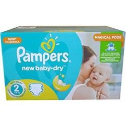 Maxi giga pack d'une quantité de 504 Couches Pampers New Baby Dry de taille 2 sur Tooly