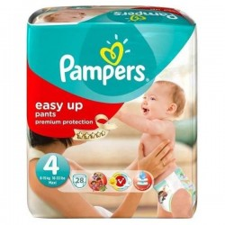 Pack 28 Couches Pampers Easy Up de taille 4 sur Tooly