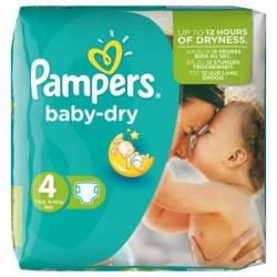 Pack d'une quantité de 46 Couches Pampers Baby Dry taille 4 sur Tooly