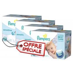Giga Pack d'une quantité de 540 Couches Pampers New Baby Sensitive taille 2 sur Tooly