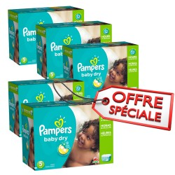 Maxi giga pack jumeaux 864 Couches Pampers Baby Dry de taille 5 sur Tooly