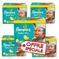 Maxi Giga Pack Jumeaux 731 Couches de la marque Pampers Baby Dry de taille 5+ sur Tooly