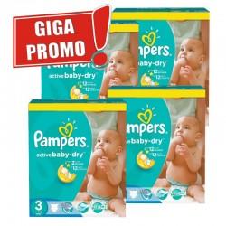 Pack économique de 814 Couches Pampers de la gamme Active Baby Dry de taille 3 sur Tooly