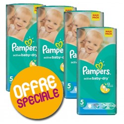 Maxi Giga Pack de 252 Couches Pampers Active Baby Dry taille 5 sur Tooly