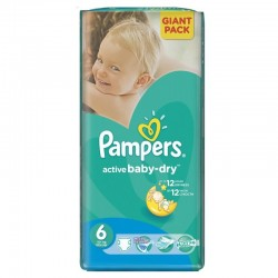 Pack 42 Couches Pampers de la gamme Active Baby Dry de taille 6 sur Tooly