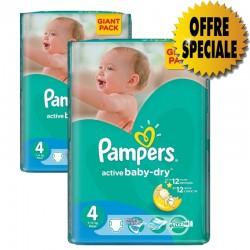 Pack économique 522 Couches de Pampers Active Baby Dry de taille 4 sur Tooly