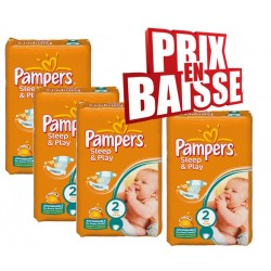 Pack économique 162 Couches Pampers Sleep & Play de taille 2 sur Tooly