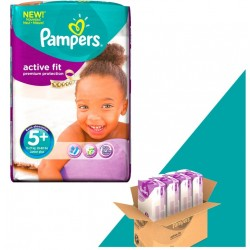 Giga Pack 348 Couches Pampers Active Fit taille 5+ sur Tooly