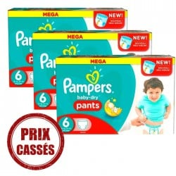 Pack économique 105 Couches Pampers Baby Dry Pants 6 sur Tooly