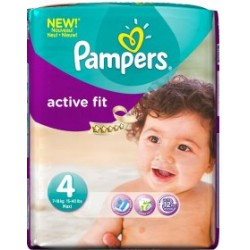 Pack 39 Couches Pampers de la gamme Active Fit taille 4 sur Tooly