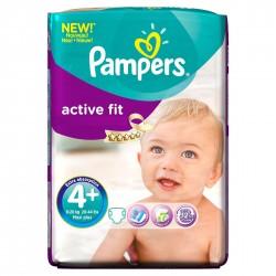 Pack 50 Couches Pampers de la gamme Active Fit de taille 4+ sur Tooly