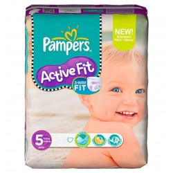 Pack 92 Couches Pampers Active Fit de taille 5 sur Tooly