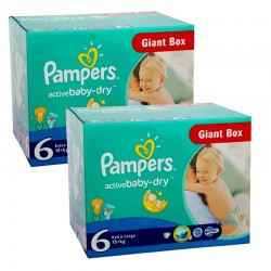 Maxi Pack 288 Couches Pampers Active Baby Dry 6 sur Tooly