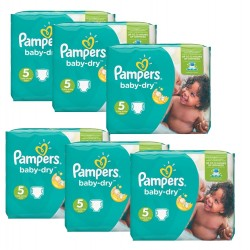 Maxi Giga Pack 301 Couches Pampers Baby Dry 5+ sur Tooly