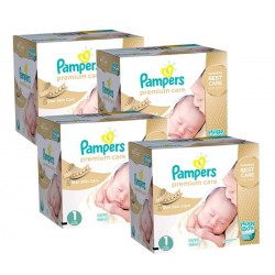 Maxi Giga Pack 308 Couches Pampers Premium Care taille 1 sur Tooly