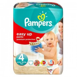 Pack 42 Couches Pampers Easy Up de taille 4 sur Tooly