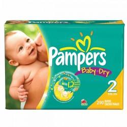 Maxi Pack 290 Couches de la marque Pampers Baby Dry de taille 2 sur Tooly